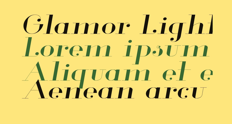Glamor Light Extended Italic