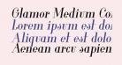 Glamor Medium Condensed Italic