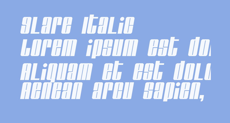 Glare Italic