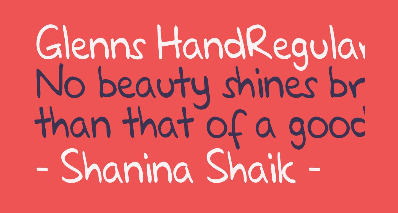 Glenns HandRegular