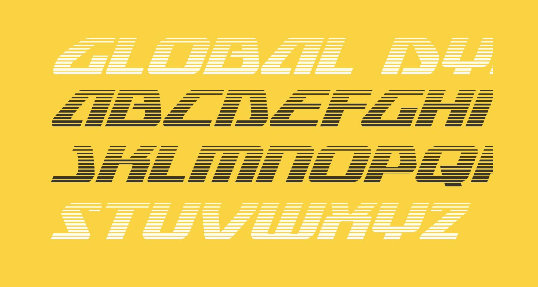 Global Dynamics Gradient Italic