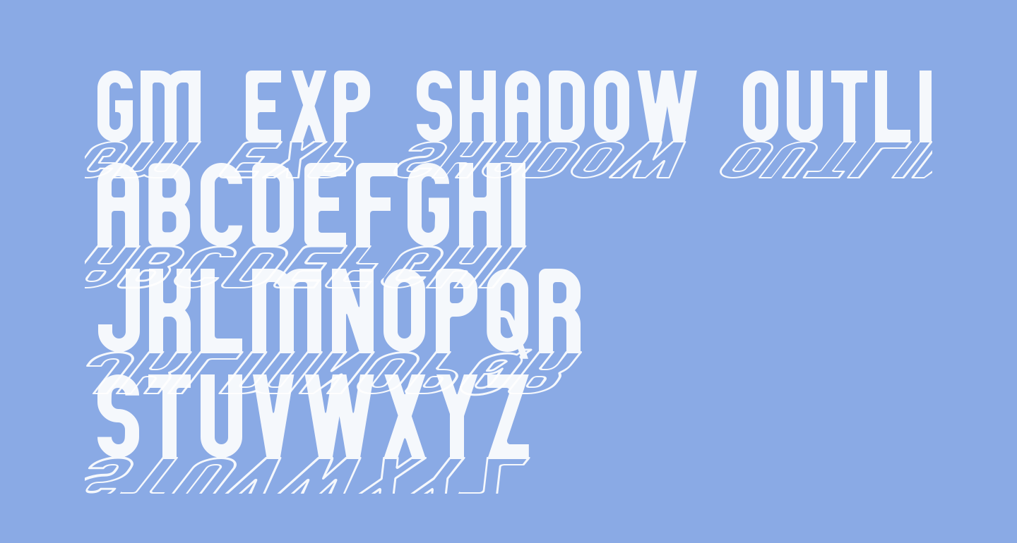GM Exp Shadow outline
