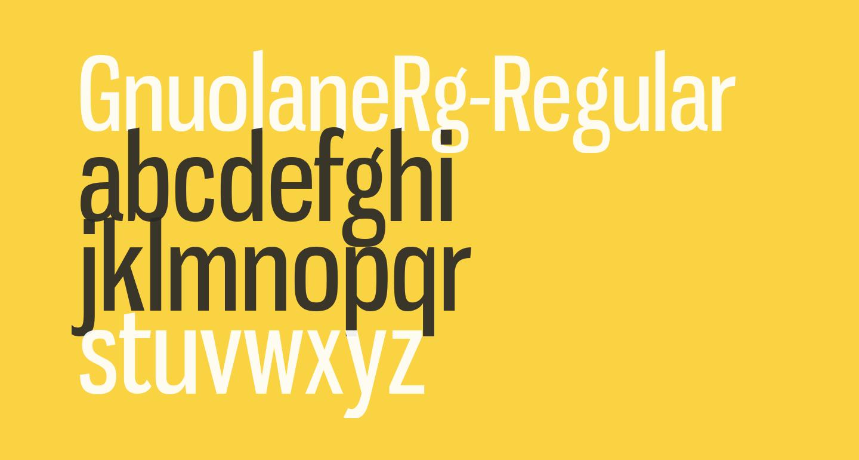 GnuolaneRg-Regular