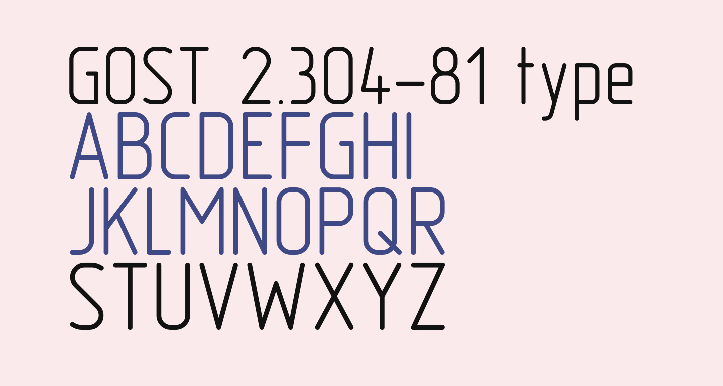 GOST 2.304-81 type A
