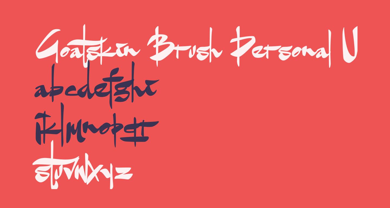 Goatskin Brush Personal Use