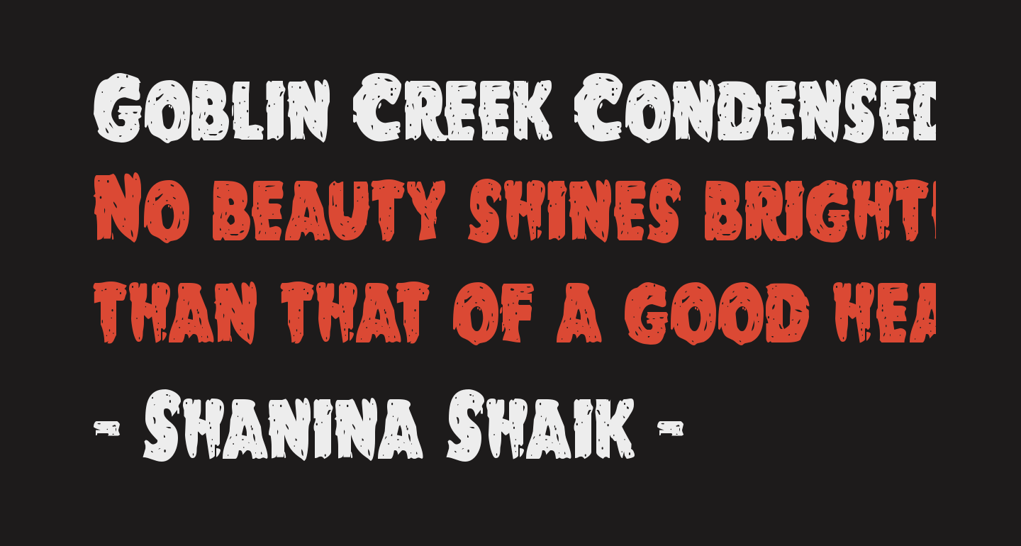 Goblin Creek Condensed