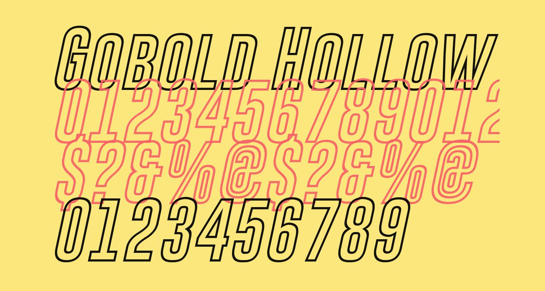 Gobold Hollow Bold Italic Italic