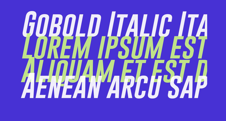 Gobold Italic Italic
