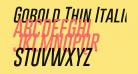 Gobold Thin Italic Italic