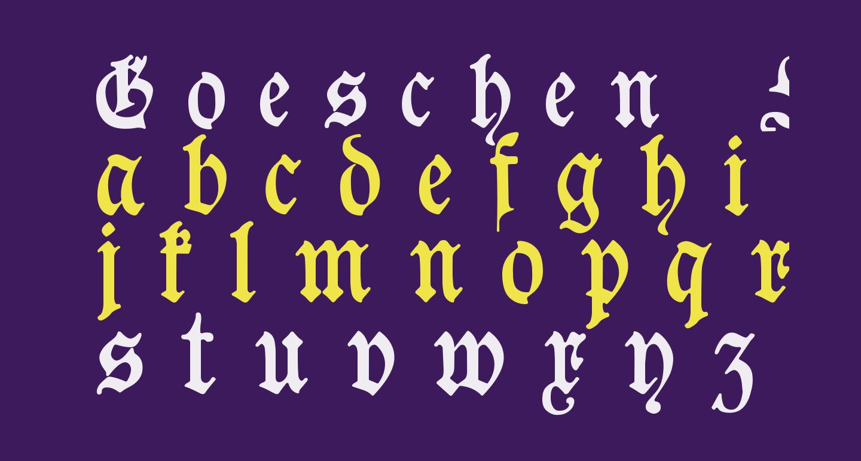 Goeschen Fraktur UNZ1A Italic