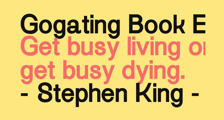 Gogating Book ExtraBold