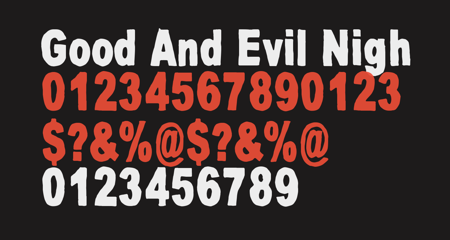 Good And Evil Night