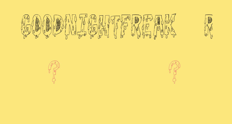 GoodnightFreak-Regular