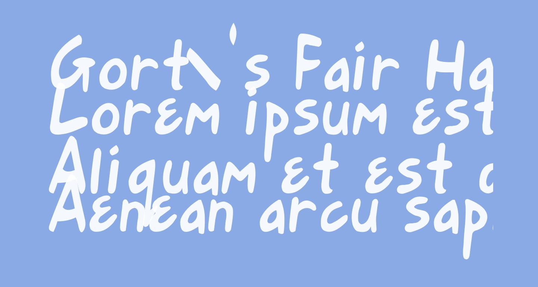 Gort's Fair Hand Upright