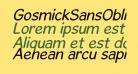 GosmickSansOblique