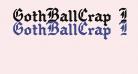 GothBallCrap Bold