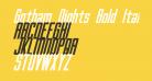 Gotham Nights Bold Italic