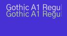 Gothic A1 Regular
