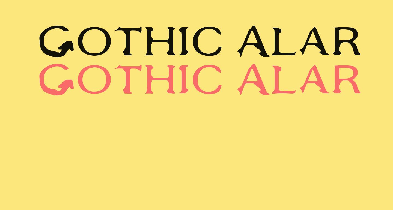 Gothic Alarm Clock