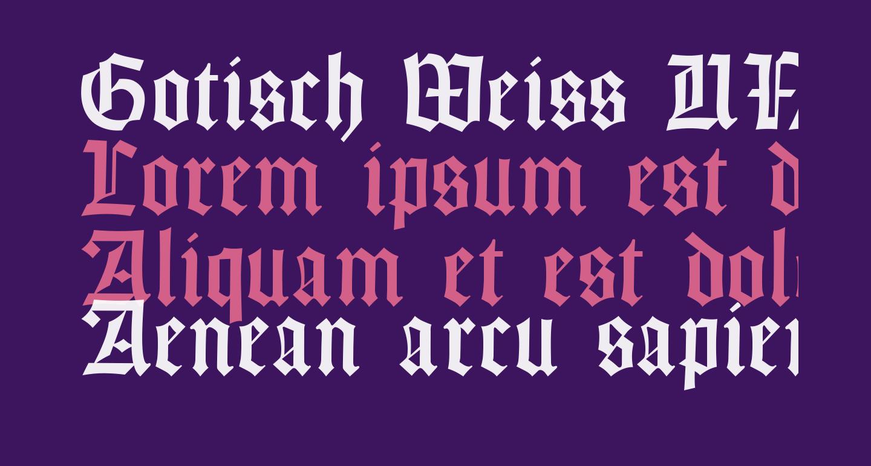 Gotisch Weiss UNZ1A