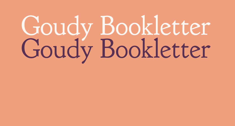 Goudy Bookletter 1911 Regular