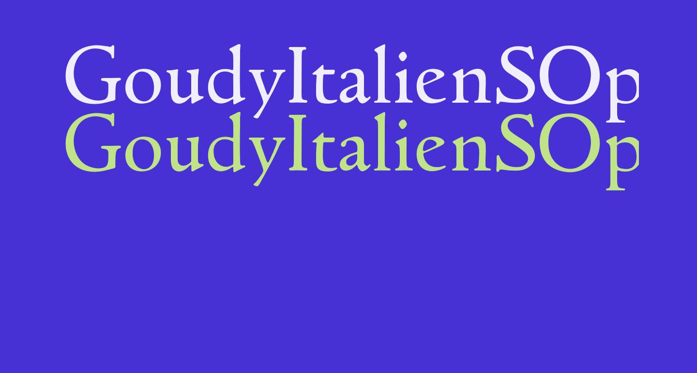 GoudyItalienSOpti-Regular