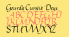 Gourdie Cursive Deux