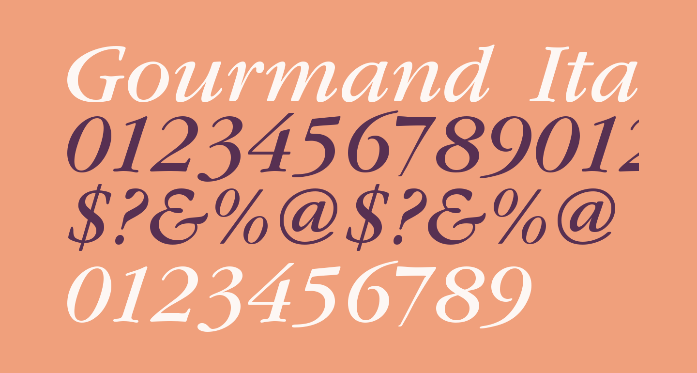 Gourmand  Italic