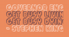 Governor Engraved
