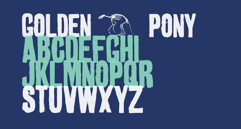 golden 0 pony