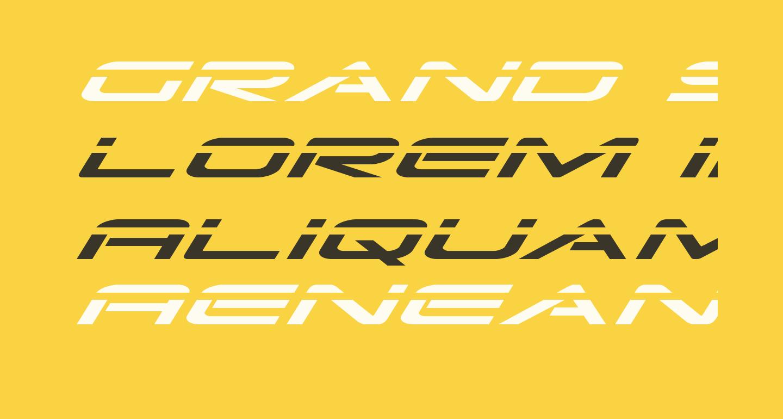Grand Sport Laser Italic