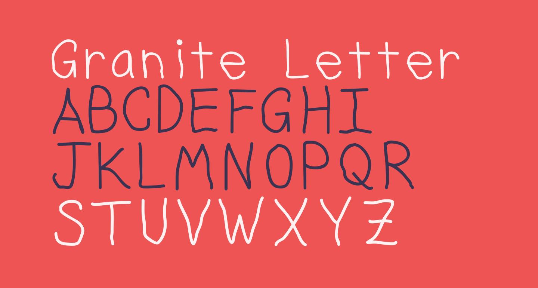Granite Letter Regular