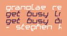 Granolae Regular Italic