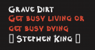 Grave Dirt