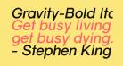 Gravity-Bold Italic