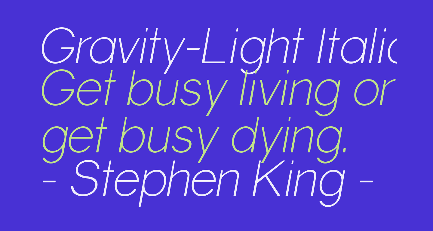 Gravity-Light Italic
