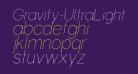 Gravity-UltraLight Italic