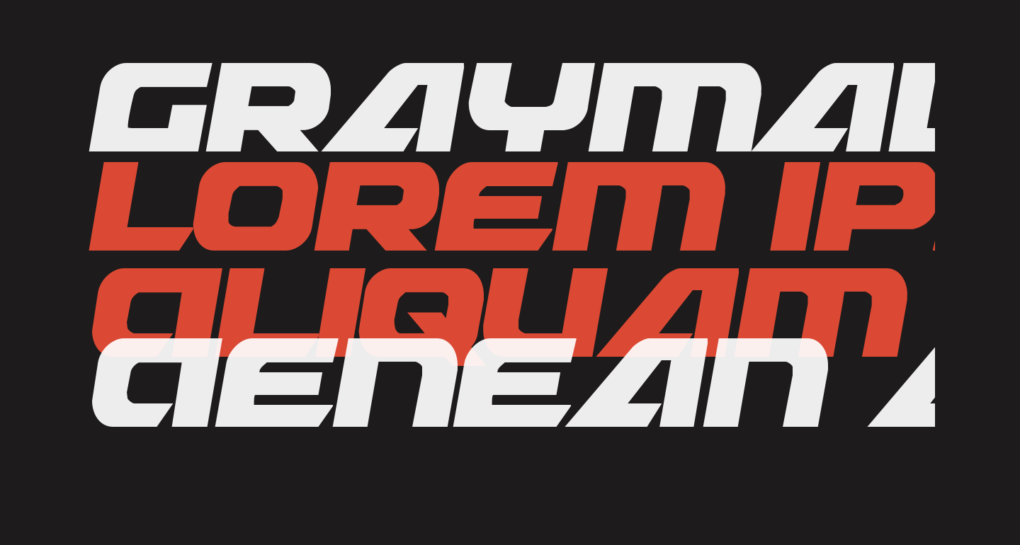 Graymalkin Compact Condensed