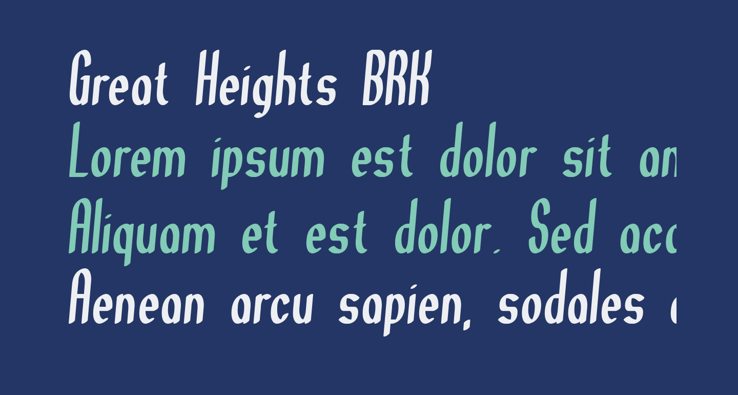Great Heights BRK