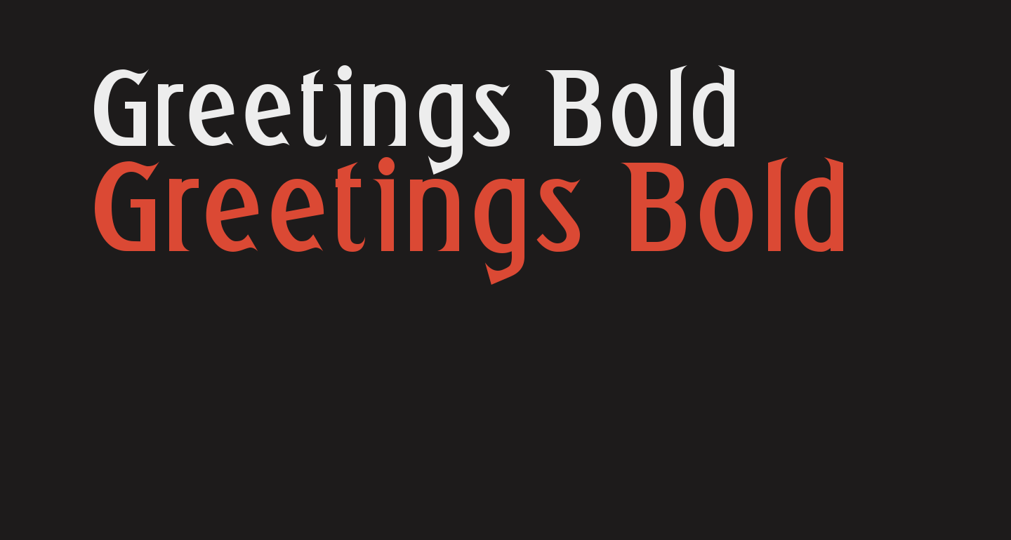 Greetings Bold