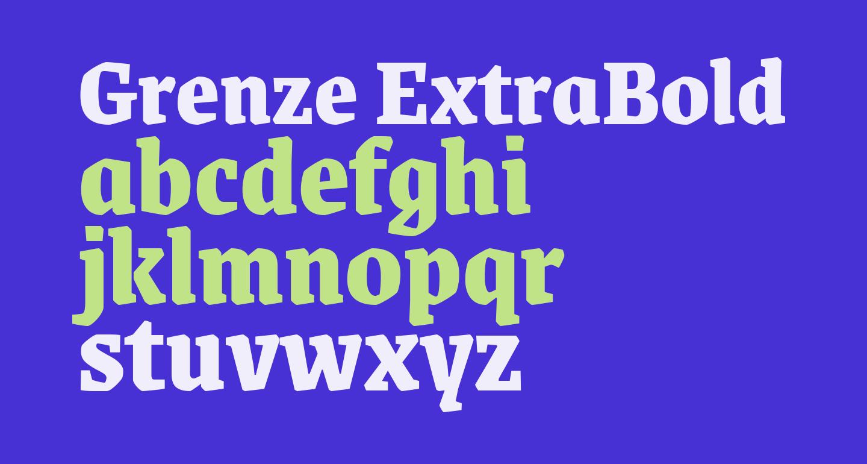 Grenze ExtraBold