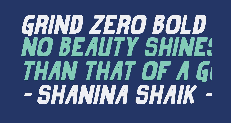 Grind Zero Bold Italic