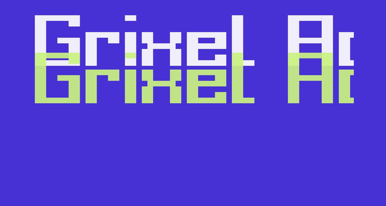 Grixel Acme 9 Regular Bold