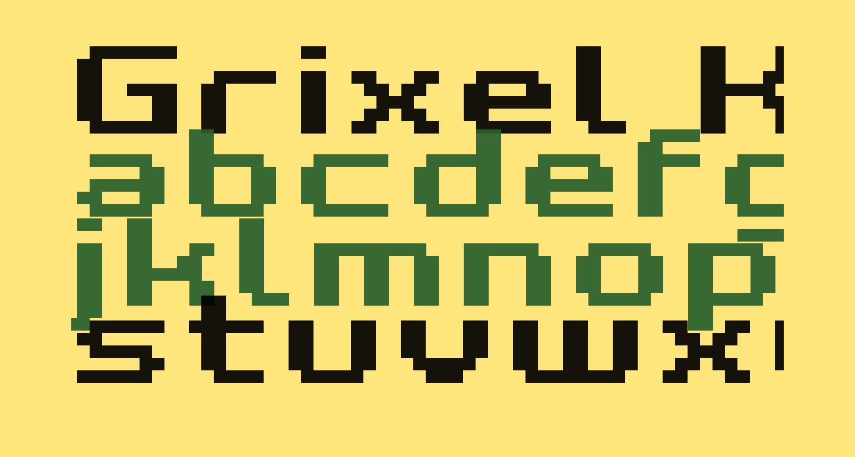 Grixel Kyrou 7 Wide Bold Xtnd