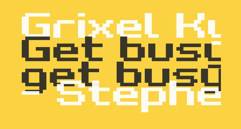 Grixel Kyrou 7 Wide Bold