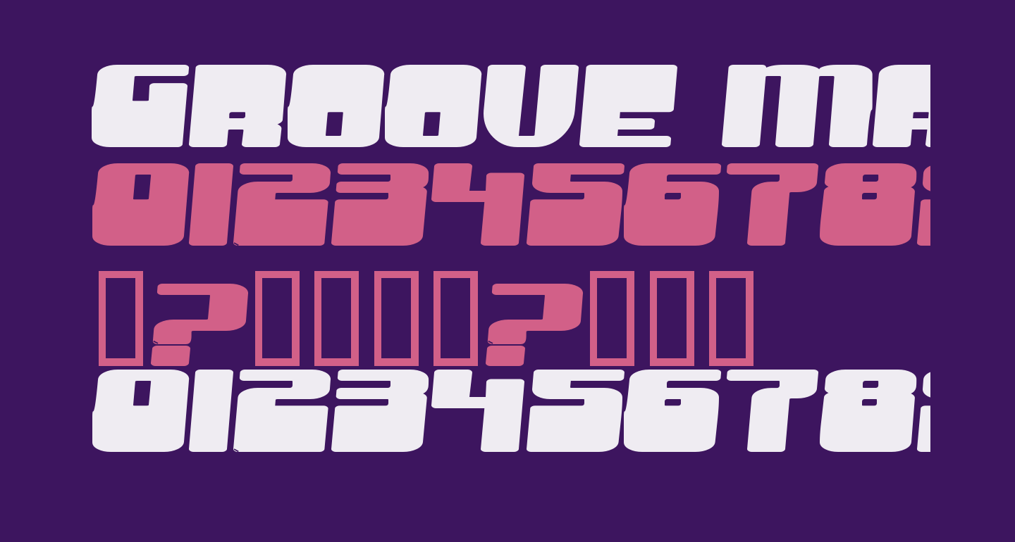 Groove Machine Expanded Bold