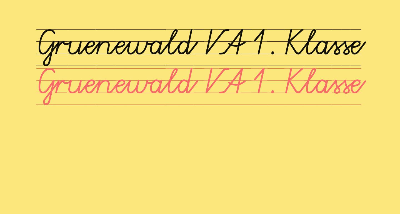 Gruenewald VA 1. Klasse