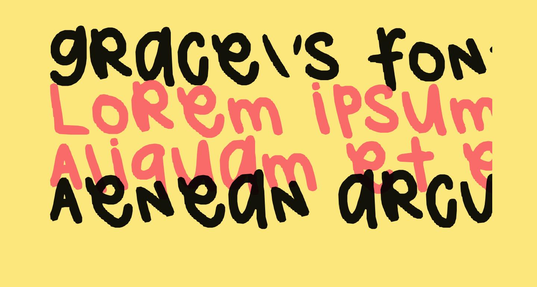 grace's font