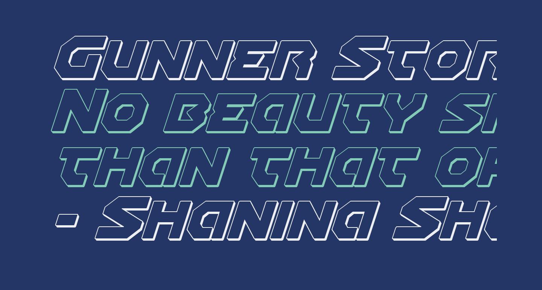 Gunner Storm 3D Italic