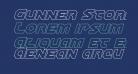 Gunner Storm Outline Italic